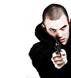 gangster with weapon