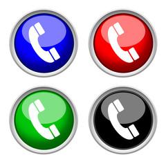 phone icon , isolated on white background