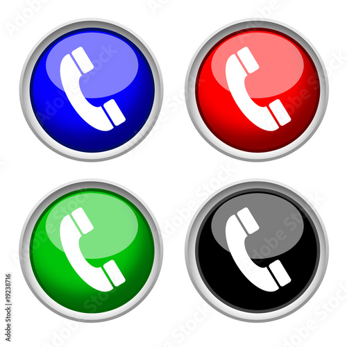 phone icon , isolated on white background