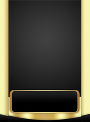 Modern Background in Black and Gold