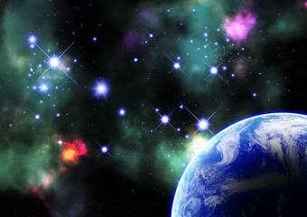 宇宙空間のイメージ