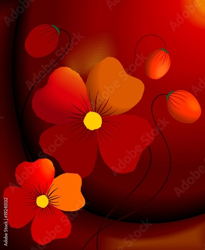 Obraz na Szkle Illustration of flower with background