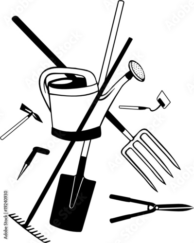 outils de jardinage fichier vectoriel libre de droits sur la banque d 39 images. Black Bedroom Furniture Sets. Home Design Ideas