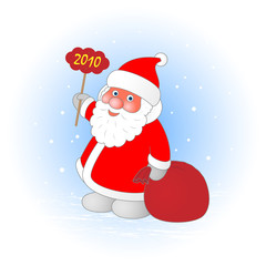 Santa Claus with the New Year and gifts