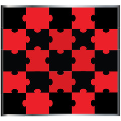 Jigsaw puzzle - black and red