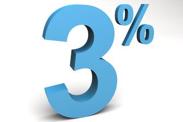 tres por ciento