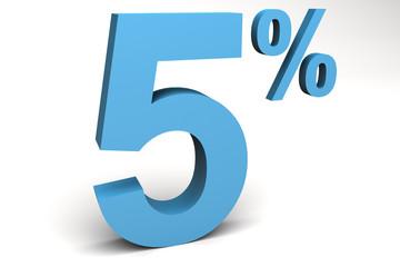 cinco por ciento
