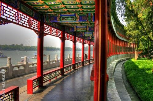 Deurstickers Beijing Beihai Park - Classical chinese Garden in Beijing (Peking)