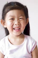 Portrait of a little Asian girl.