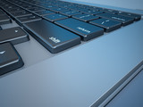 Notebook's Keyboard Closeup Series (Concept of IT/digital world)