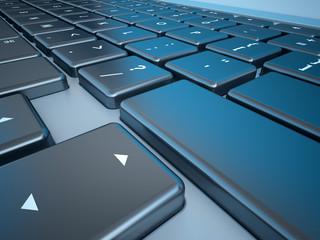 Notebook's Keyboard Closeup Series (Copyspace on SHIFT/ENTER)