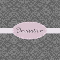 Invitation Card in Baroque style