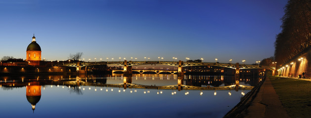 panoramique du pont saint pierre à Toulouse