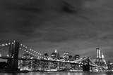 Brooklyn Bridge and Manhattan Skyline At Night, New York City - 19263719