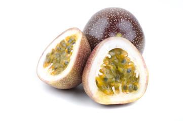 halved passion fruit