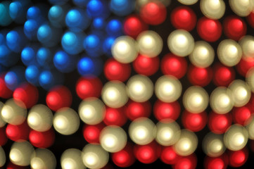 Abstract Bokeh American Flag Background