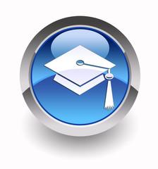 Graduation glossy icon
