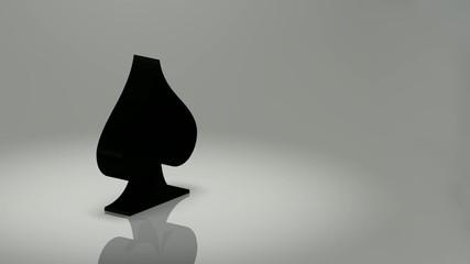 Spades Poker Symbol 360° - 3D Render
