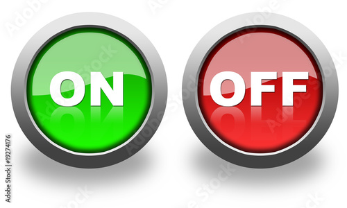 on and off button & icon