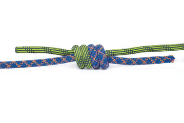Rope for mountaineering. Grapevine knot.