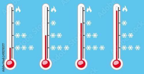 thermometre 4 niveaux de froid