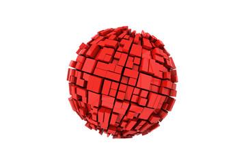Illustration of the blogosphere or block-o-sphere