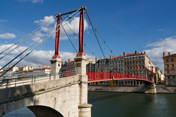 Passerelle Saint-Georges Bridge in Lyon, France