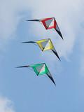 Three stunt kites poster