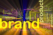 Brand marketing background concept glowing