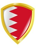 Golden emblem of  Bahrain