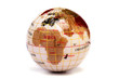 Globe showing the world