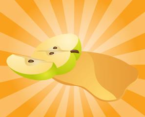 Apple juice splash