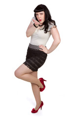 Pinup Model Blowing Kisses