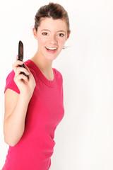 junge Frau am Telefon