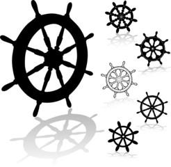 black helm steering wheel