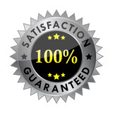 100% satisfaction guaranteed  label (vector)