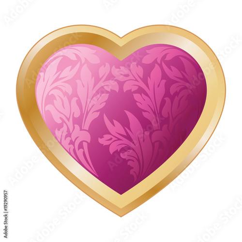 Valentine's heart with florals