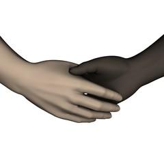 mains serrés