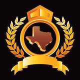 texas state yellow royal display poster