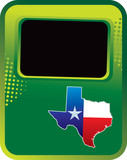 texas state green halftone template poster
