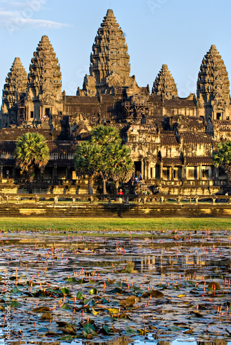 Angkor Wat Temple at sunset, Siem reap, Cambodia.