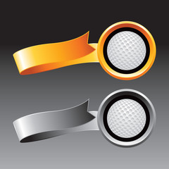 golf ball orange and gray ribbons