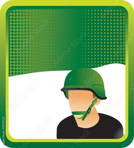 army man green background