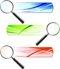 Magnifying Glasses with Banners