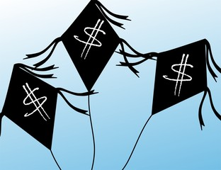 Illustration of dollar kite