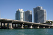 Downtown Miami and the Biscayne Bay Bridge