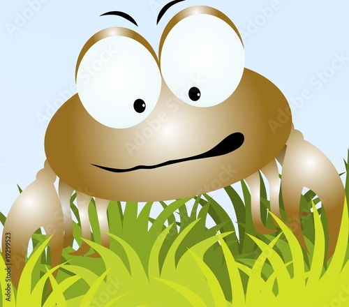 Illustration of a cartoon crab