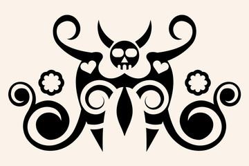 dangerous tattoo, vector illustration