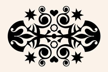 ornate tattoo, vector image