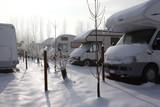 camper in inverno poster